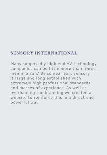Sensory Web Copy Image